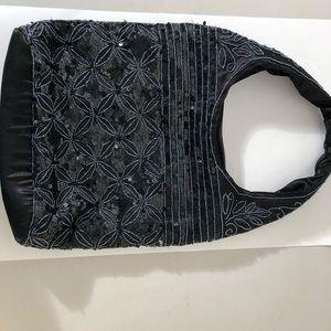 Handbags - Beaded Hobo Bag in Black